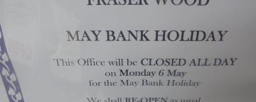 May Day Bank Holiday Opening Hours