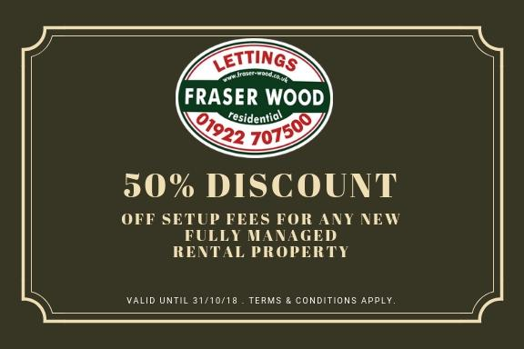 50% Discount on Letting fees for October